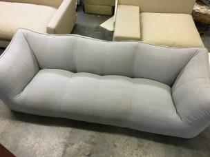 B&B Italia Le Bombole sofa - re-upholstered in grey fabric