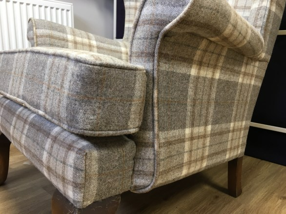 Parker Knoll check - front detail
