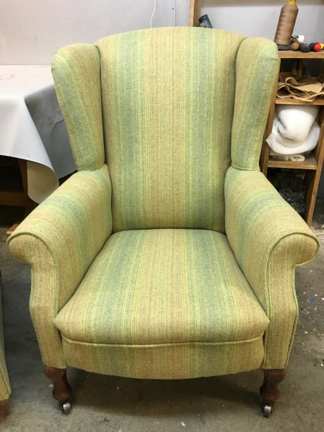 Stripe wingback