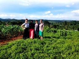 Christina, Sheila, Liz, and I overlooking part of the agriculture on this beautiful campus.