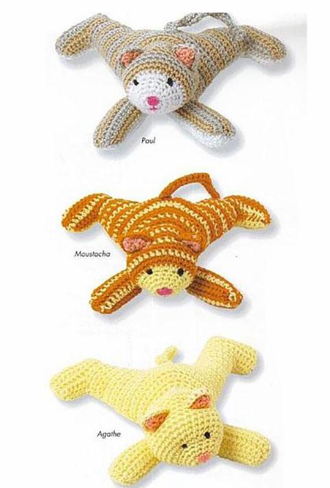 তিন বিড়াল crochet কিভাবে টাই