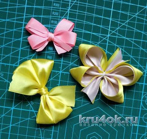 How easy and beautifully tie a bow of ribbon