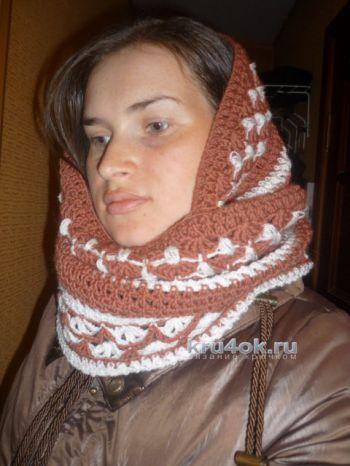 Sciarpa - calunnia all'uncinetto. Lavora a Anna Lev.
