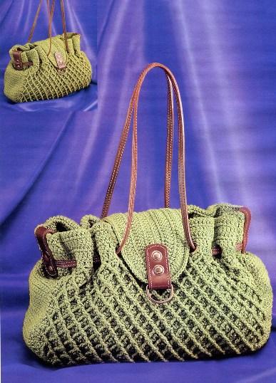 Вязаная сумка для офиса | Вязание крючком, бесплатная ...