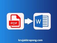 แปลงไฟล์ pdf เป็น word ให้ดีที่สุดทำอย่างไร