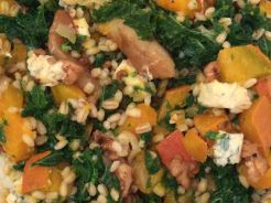 Warm Pearl Barley, Pumpkin and Kale Salas