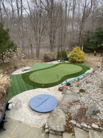 1 42 - Back Yard Golf Practice Facility in Manassas & LVP for a Bathroom In Montclair