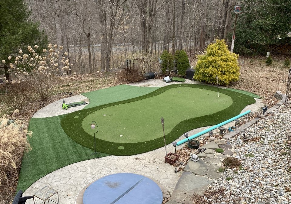 Back Yard Golf Practice Facility in Manassas & LVP for a Bathroom In Montclair