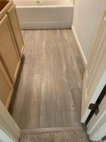 16 11 - LVP Installed In Laundry And Bath Rooms