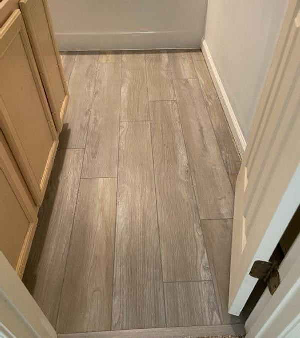 LVP Installed In Laundry And Bath Rooms