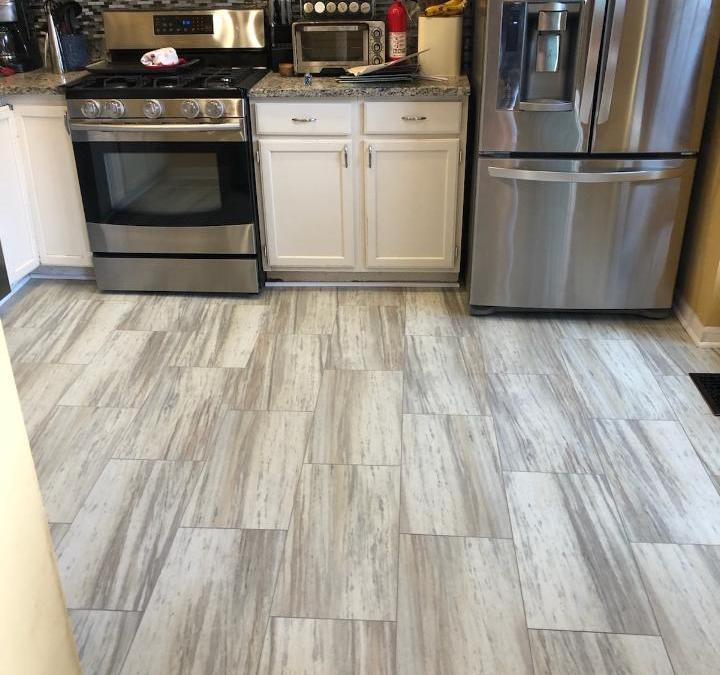 New Kitchen flooring, Hardwood and Carpet too!