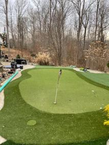 4 47 - Back Yard Golf Practice Facility in Manassas & LVP for a Bathroom In Montclair