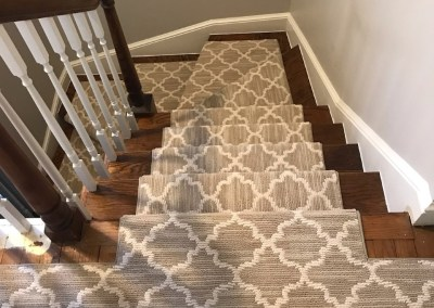 New Carpeted Stairs and Hard Wood Flooring