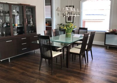 New Hardwood in Dining Room