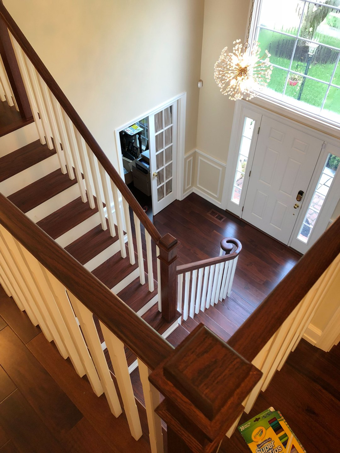 New Dark Hardwood Flooring and Stairs