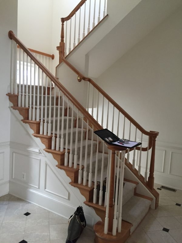 Awesome custom stain in Arlington 5 story home