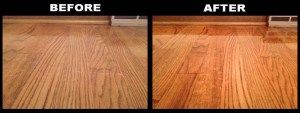 FloorFinishing BeforeAfter 300x113 - Which one is better for refinishing hardwood floors? Oil or water-based poly?