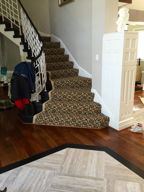 Beautiful stair transformation in McLean