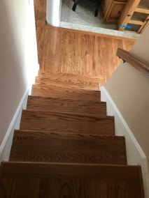 landing step - New Hard Wood Staircase and Flooring