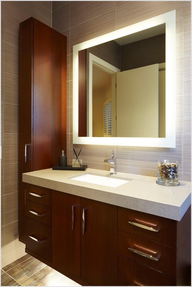 LED Vanity Mirror, Polished Edge
