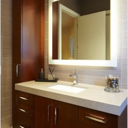 LED Vanity Mirror, Polished Edge