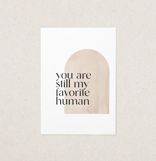 Postkarte Lieblingsmensch