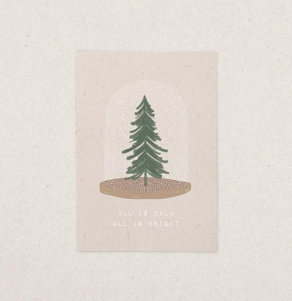 Postkarte Weihnachten Glocke
