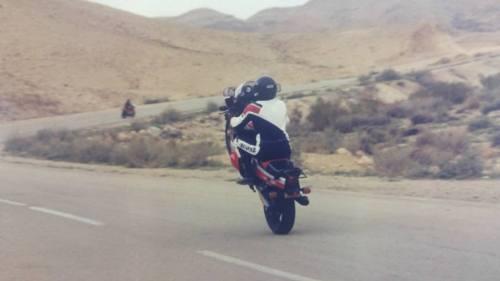 סדום ערד שנת 1986. רוכב מושיק יודלא.