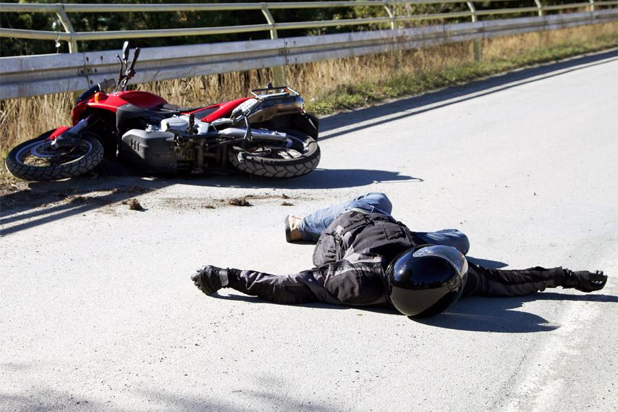 בתאונת אופנוע