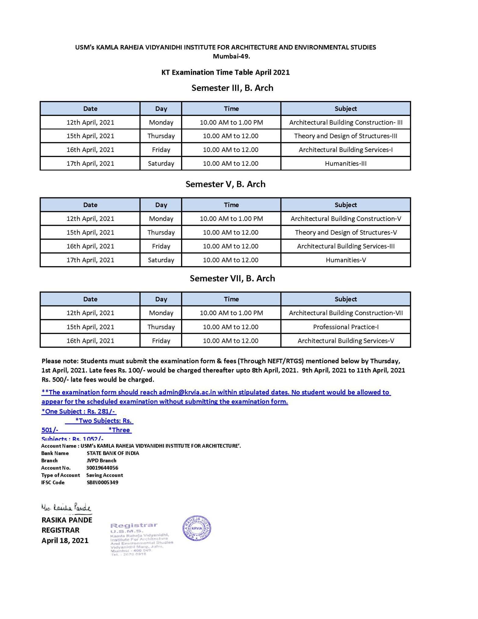 Usm Academic Calendar Fall 2022.Usm S Krvia Page 2 Kamla Raheja Vidyanidhi Institute For Architecture Environmental Studies