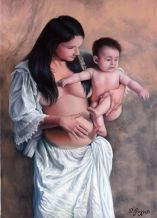 MATERNITY, oil on canvas