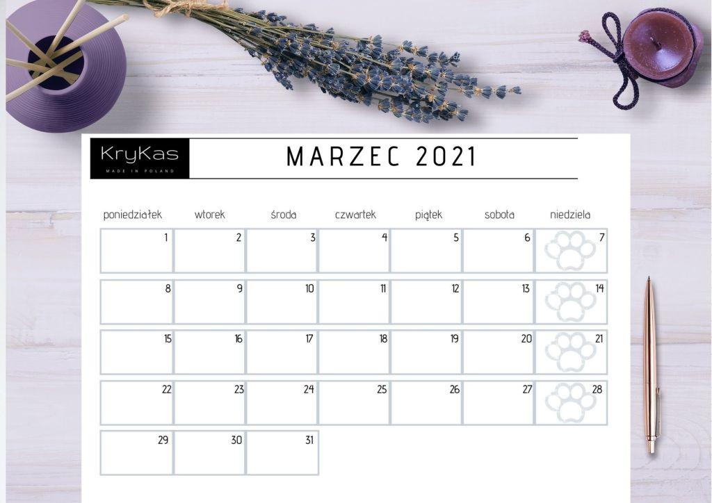 wierzęce kalendarze do druku - KryKas 2021