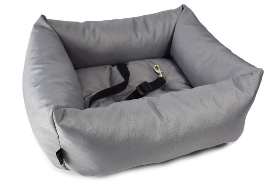 Fotelik samochodowy dla psa / kota z regulowaną smyczką