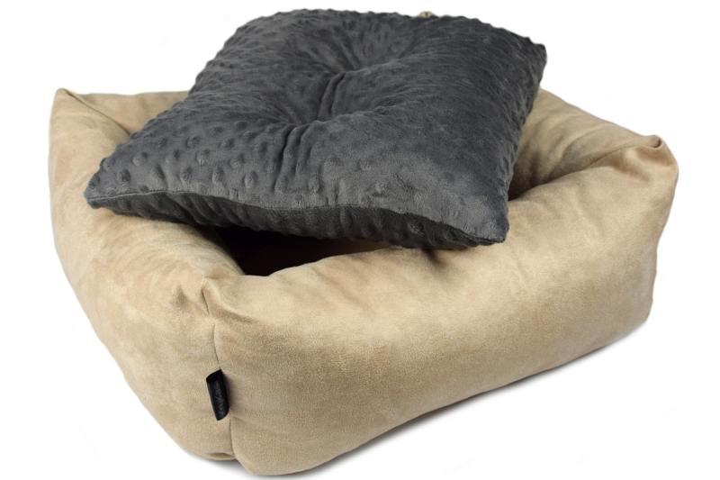 KryKas - fotelik samochodowy dla psa - z wyjmowaną poduszką minky