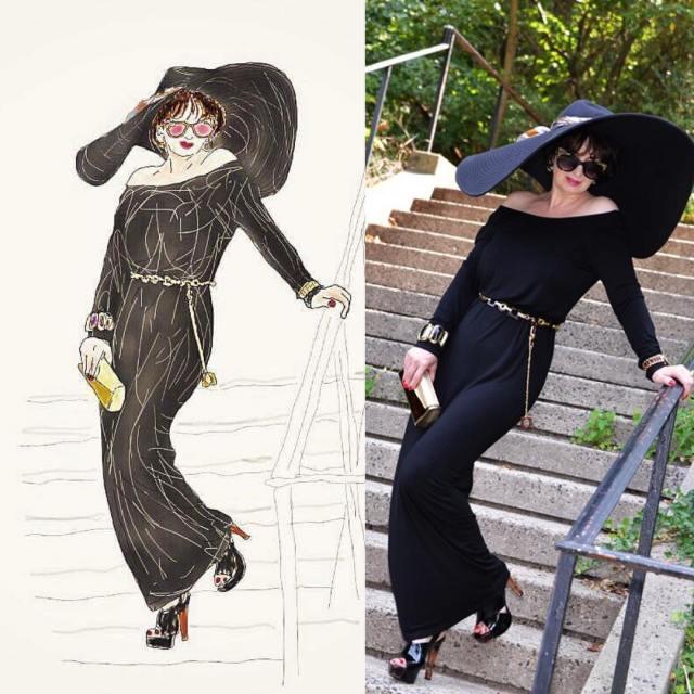 fashion sketch eyeslikefingers floppyhat ny happy wiw fashionblog fashionpost fashionover50hellip