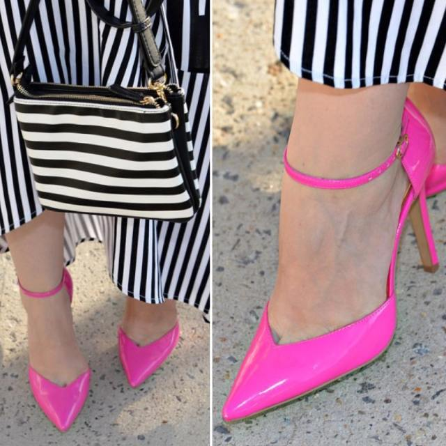 newpost pink pinkshoes rowe blogger instagram outfit shoes highheels stripeshellip