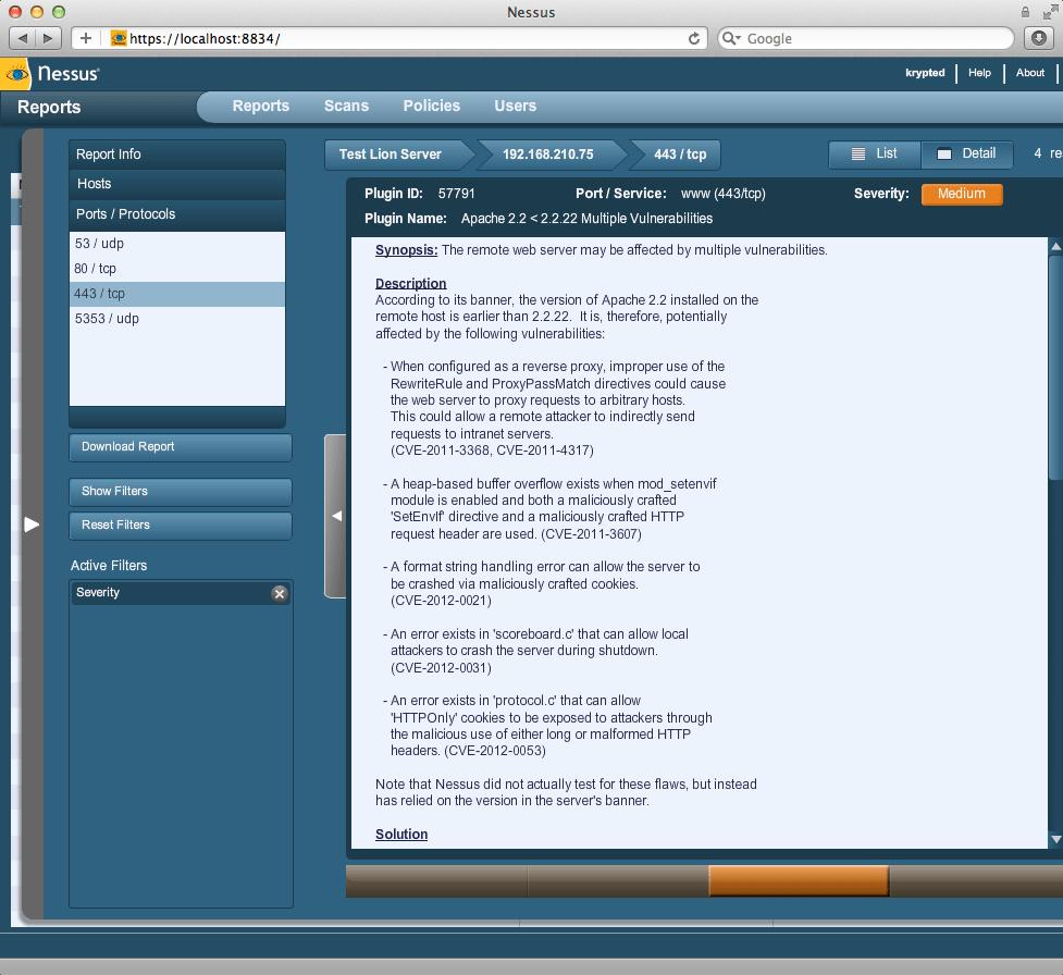 Pentesting Mac OS X Server With Nessus 5 - krypted