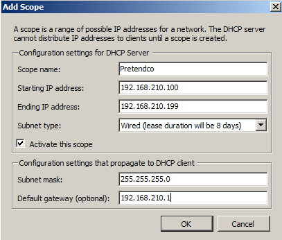 Installing the DHCP Service in Windows Server - krypted