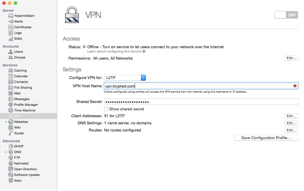 Set Up The VPN Server and Client on Yosemite Server - krypted