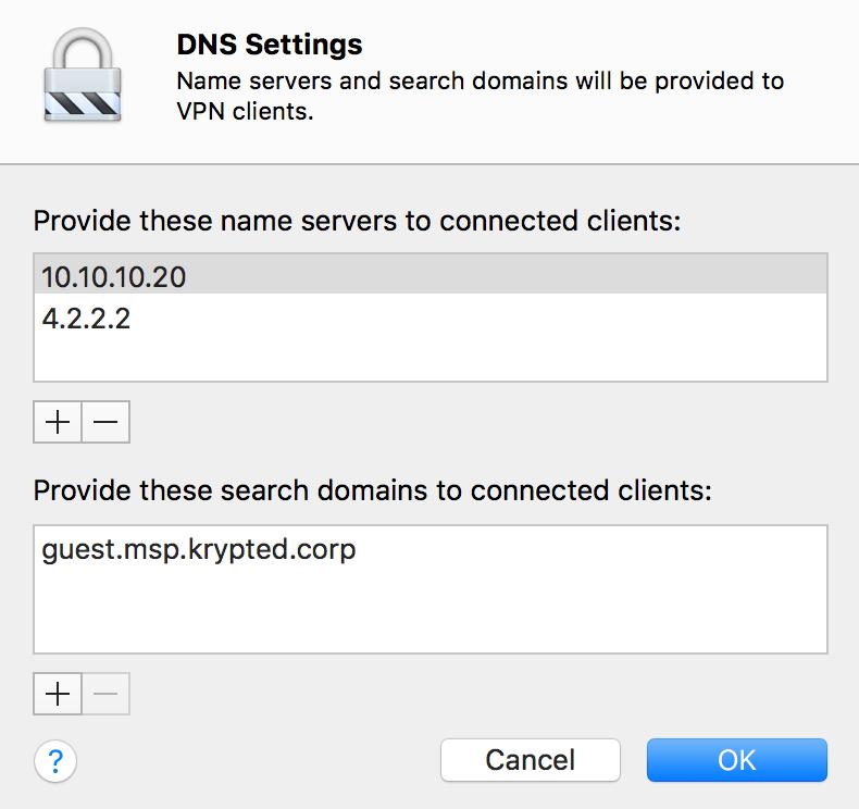 Configure The VPN Service In macOS Server 5 4 on High Sierra
