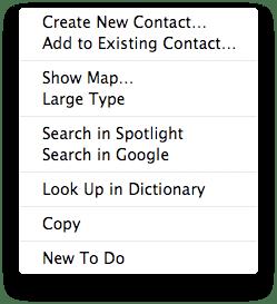 Data Detector Mac OS X