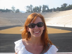 Lisa at the Athens Olympic Arena