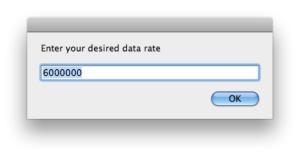 Choosing the asr data rate