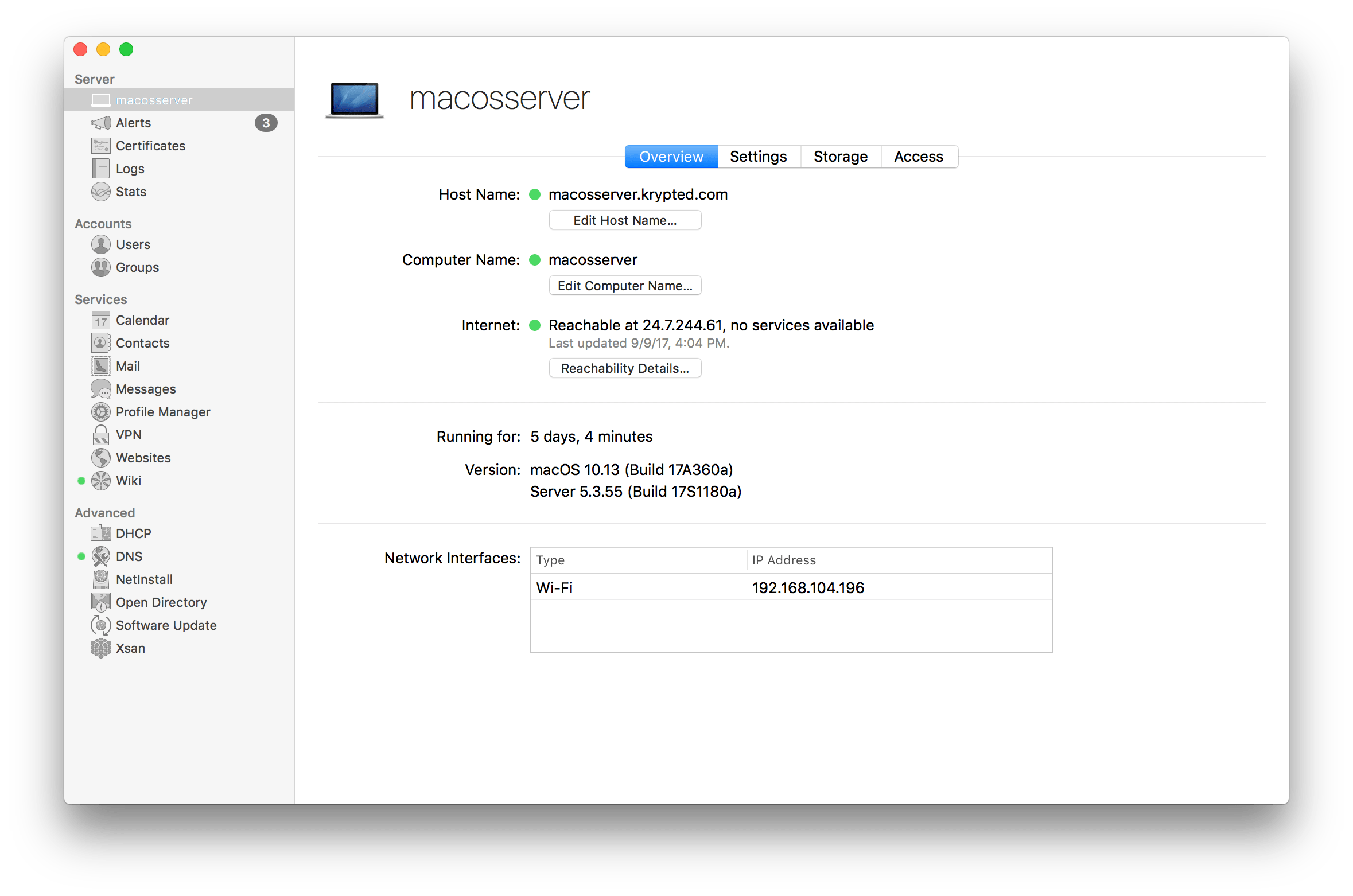 Managing DNS Services In macOS Server 5.4 for High Sierra