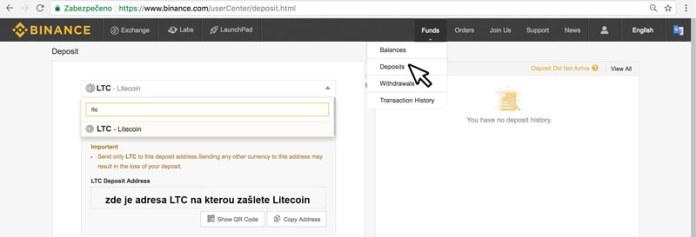 depozit-binance-litecoin
