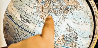 globus globe krajina mapa