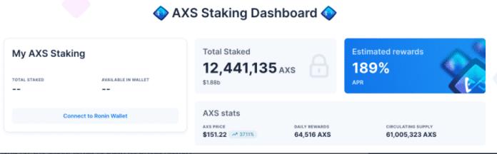 AXS Staking dashboard