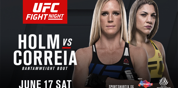 Holm vs Correia Full Fight Replay