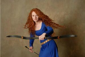 Virginia Hankins as Merida - a striking, surprising resemblance