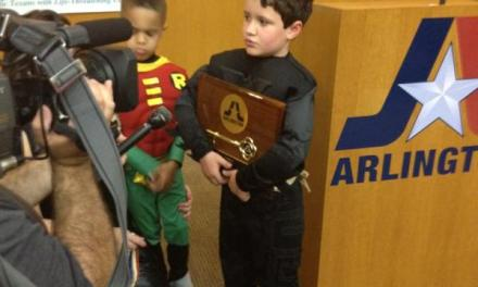 Police & Firefighters Grant Wish of 7-Year Old With Leukemia to Be Batman